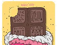 Video Villains Candy Bar Poster