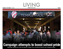 The Temple News Cover Layouts