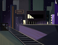 SUNSET 2D animation