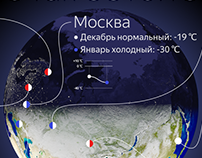 """Cold Winter"". Infographic for Yandex.Weather"
