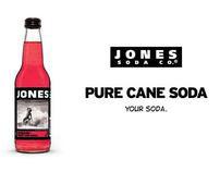 Jones Pure Cane Soda end tag