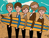T-Shirt Design for Reverbcity.com - THE BEACH BOYS