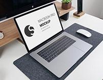 Free MacBook Pro 2018 Mockup PSD