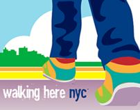We're Walking Here NYC Event Collateral