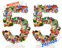 "Turuncu Magazine ""Migros 55. Years"" Cover"