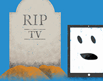 "Illustration for ""Is TV Dead?"" blog post"