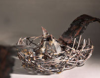 Bird Nest- metalwork