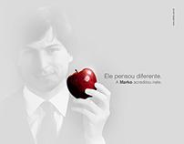 "Anúncio Homenagem ""Steve Jobs"" - MARKO"