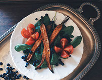 Salad with baked carrots