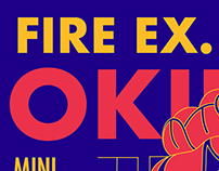 Fire Ex. Okinawa Mini Tour 滅火器沖繩巡迴 Visual Design