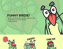 Funny Birdie Emoji Set