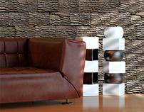 Wooden Bricks Wallpaper Design