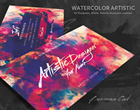 Watercolour Artistic Business Card