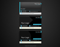 Black Shiny Business Cards