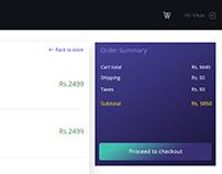Cart Page Web UI