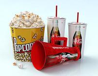 3D Coca Cola megaphone cups