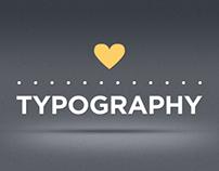 love's typography ♥