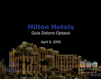 PowerPoint for Hilton Hotels