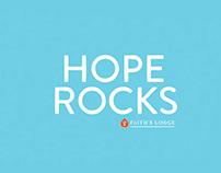 Hope Rocks Silk Screen Poster