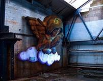 Angel Sculpture Installation
