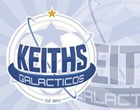 Keiths Galacticos FC - Logo Design