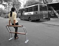 Seating cum sit stand for bus shelters