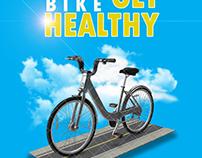Ride your Bike Get healthy(Social media design)
