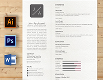 Minimal Resume and Cover Letter