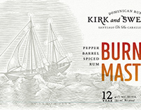 Burning Mast Label Illustrated by Steven Noble
