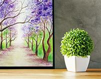 Pintura natureza encantada!