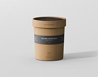 Round Paper Box Mockup - Medium