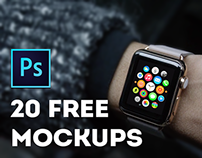 20 free mockups Apple Watch