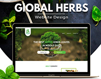 Herbs shop website design