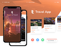 Tours and Travel App Design