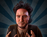 Ancient Aliens Star, Giorgio A. Tsoukalos Animated