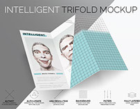 Free Intelligent TriFold Mockup