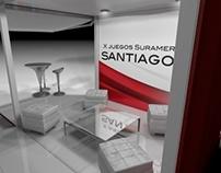 Stand Container Juegos Suramericanos Santiago 2014