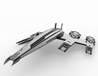 Modelo 3D nave espacial (Normandy)