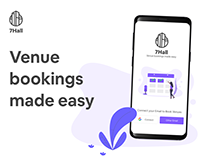 7Hall: Venue Booking - UX Case Study