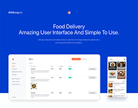 Food Delivery app dashboard to manage orders.