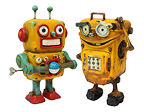 TinToy Robot / clay