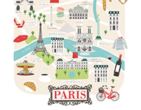 Paris Illustrated map for Lovely Streets
