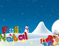Ilustrações de Natal para papel de embrulho