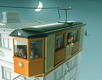 Tram-apartments