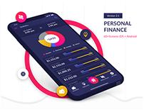 Personal finance - Adobe XD Freebie 2.1