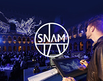 Digital live painting for Snam
