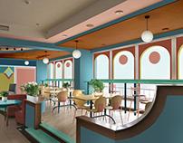 Geometric Modern /Эскизы кафе