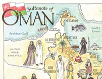 The Food of Oman map