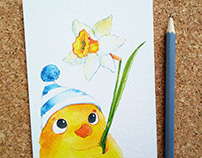 Cute animals postcards