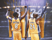 Kobe Bryant - Official Jersey Retirement Artwork